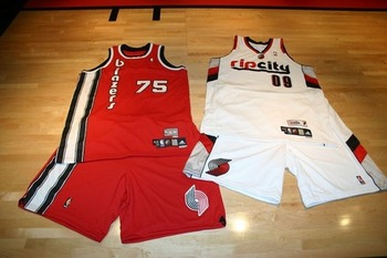 Portland Trailblazers - I thought the ones they have now are bad! These are even worse!
