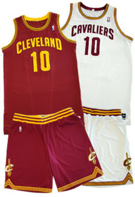 Cleveland Cavs - These uniforms aren't as the bad yellow with burgandy trim uniforms were! Those were really ugly!