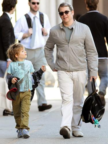 father and Son - Matthew Broderick and his son Will.