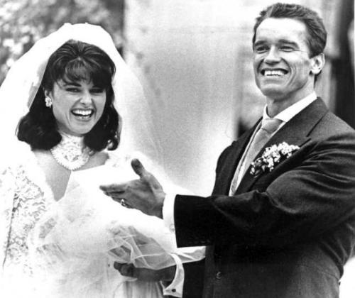 Wedding Day - On 4/25/1986 was the day Arnold Schwartzeneger married Maria Shriver.