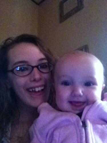 me and my daughter - this is just me and my beautiful baby girl just hanging out! i love her to death! shes amazing, shes my world, i dont know what i would do without her!