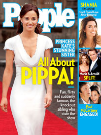 People Magazine - A recent cover of People Magazine with the photo of Pippa Middleton on it.