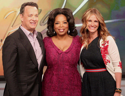 Oprah and friends - Recently Tom Hanks and Julia Roberts were on The Oprah Winfrey Sow'.