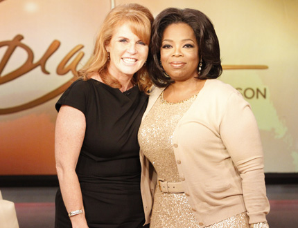 Sara and Oprah - Sara Ferguson the ex-wife of Prince Andrew. This woamn is like 51 and still doesn't have her sh*t togehter!