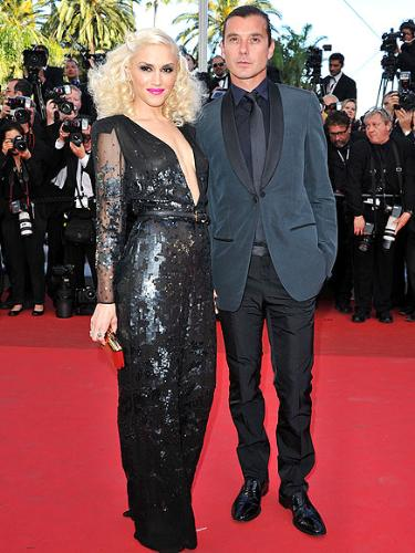 Gwen Stefanti - Gwen with her husband at the cannes film festival. Gwen had a great dress on but not the best that day!