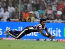 Balaji - Balaji slips a Catch but a good try.