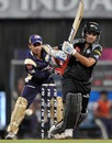 Sourav Ganguly - Ganguly pushes one down the ground