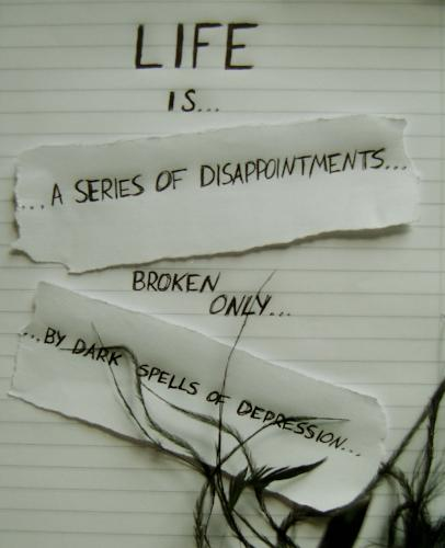 life. - the way i sometimes view life. and i think for alot of people, it's true!!