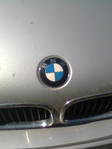 BMW emblem - Here is the famous BMW emblem i took from a car nearby.