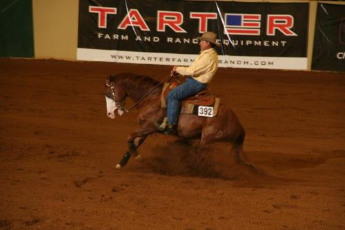 Reining - This is former US Olypmian Eventer David O'Conner competiting in reining!