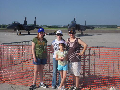 Air Show - Me and the girls at the air show on Mother's day