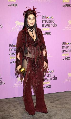 Cher - I think Cher was channeling her inner American Indian! So Cher and I like the outfit!