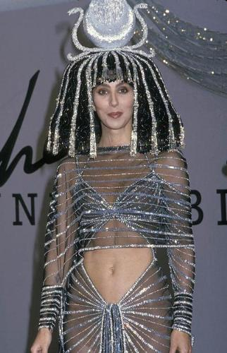Cher - Dressed like she was Queen Cleopetra! Now this one of her very classic looks!
