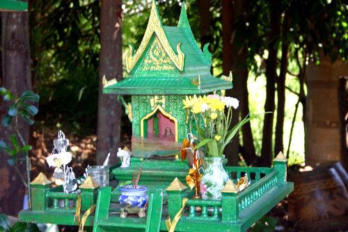Spirit House - Spirit House in Sawankalok, Thailand.
