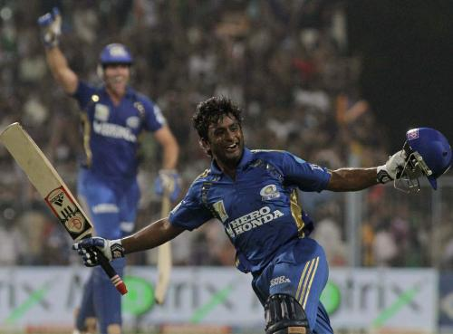 Rayudu - Ambati Rayudu celebrating the win against KKR after hitting the last ball for a six. What a moment!