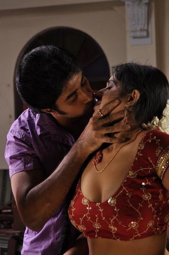 Man kissing a beauty - A man kisses a beauty passionately.
