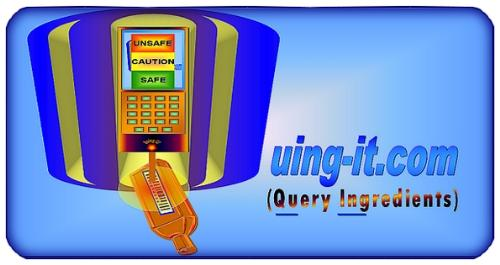 Quing-It.com icon - Quing-It.com is a 'one stop site' for product ingredient information, with links and data for a wide variety of product ingredients.
