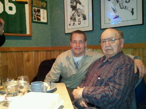My nephew amd my dad - My nephew Dan with is grandpa.