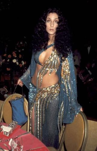 Cher - Cher in one of her unique outfits from the past!