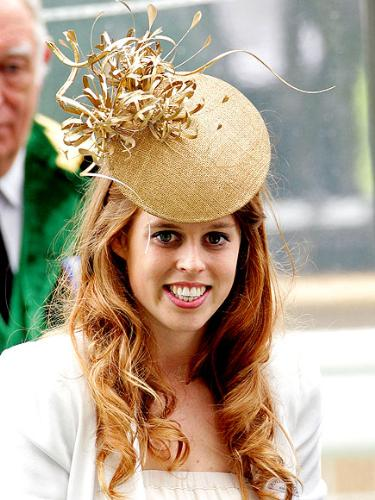 Princess Beatrice - Like all royal woman hats are to be wore at alot of events like Princess Beatrice is here.