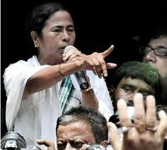 addressing rally - THE MAMTA BANERJEE ADDRESSING election rally