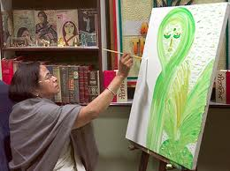 another look - mamta busy in painting