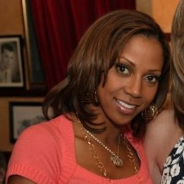 Holly Robinson-Peete - She is on the talk show called 'The Talk'. She is married to former NFL QB Rodney Peete.