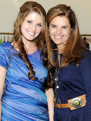 Oldest Daughter - This Katherine Scharzenegger and her mom Maria Shriver. Katherine is the oldest child of Arnold and Maria.