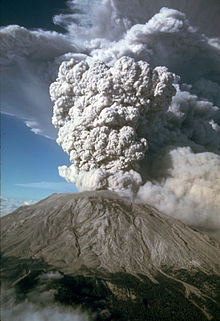 Mount St. Helens - Mount St Helens erupted in 1980 in the state of Washington.
