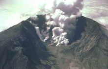 Volcano - A volcano erupting.