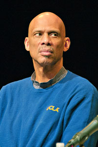 Kareem Abdul-Jabbar. - He is pissed at the Lakers becuase he has not had a statue made of him outside of the Staples center when other Lakers stars have allready like Magic Johnson!
