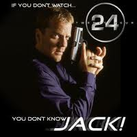 jack bauer of 24 - jack bauer is the action star of tv series 24. he is a counter terrorist unit agent. he is known for his wits and dedication of his work. he is portrayed by actor keifer sutherland. this tv series 24 is the most watched tv program.