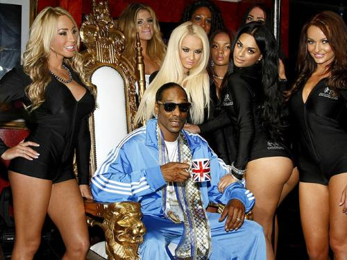 Snoop Dogg - Snoop Dogg in Great Britian as his latest album was being released.