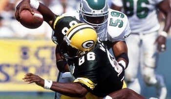 Ed West - One of the Packers best Tight ends in their history. West's nickname was 'Tool Box'! Why because he did everything!