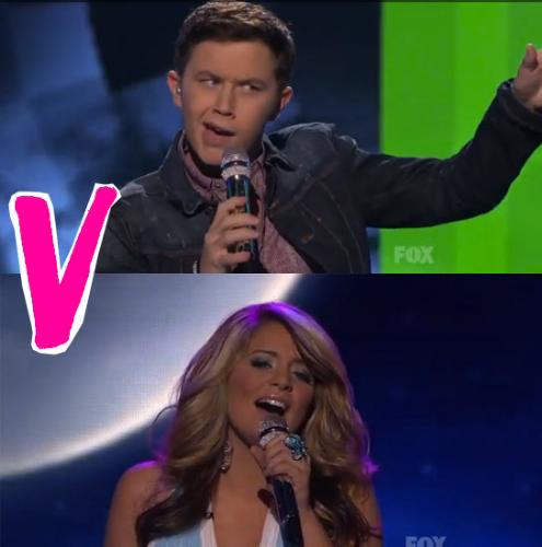 Scotty VS Lauren - Scotty and Lauren competing in American Idol.