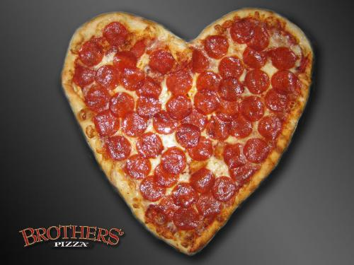 Pizza - A heart shaped pizza