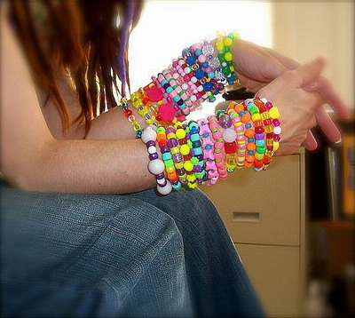 Bead Bracelets - Many colorful bracelets. I wish I had them all! ?
