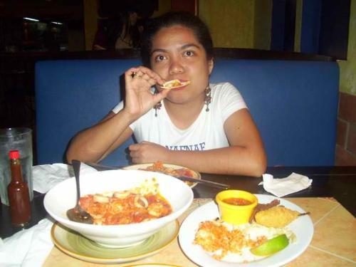 mexican food  - enjoying the food
