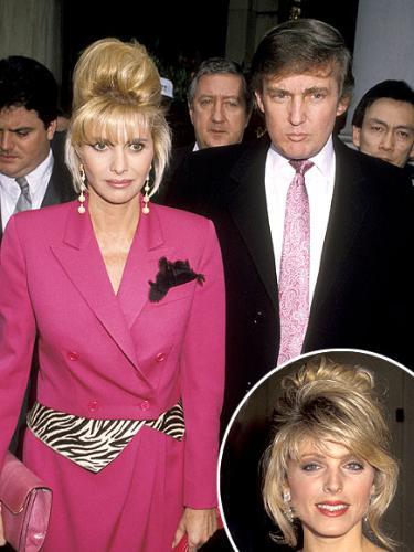 Ivana abd Donald Trump - Ivana and Donald Trump's marrriage fell apart because he had an affair with Marla Gibbs.