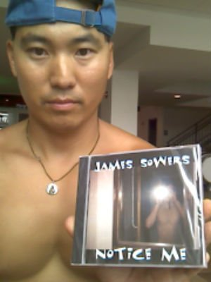 James sowers notice me - james sowers holding cd notice me