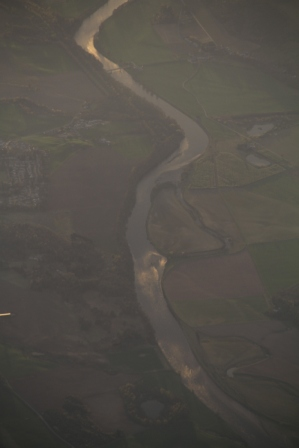 Scottish river - Scottish river seen from above