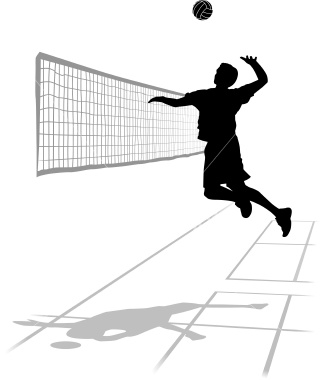 Volleyball - This is a photo of my favorite sport, volleyball.