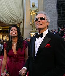 The Eastwoods - Clint Eastwood and his wife Dina.