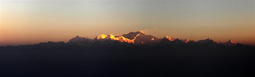 Sunrise at Tiger Hill, Darjeeling - A panaromic view which only the lucky ones can see. I missed it.