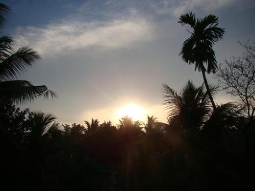 Sunrise view from my terrace - I see the panoramic view of the sun rise everyday