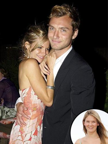 Jude Law - His relationship with Sienna Miller went bad because he was cught having an affair with his kids 26 year old nanny! I believe one of his kids cought him in bed with the nanny,too! Idiot!