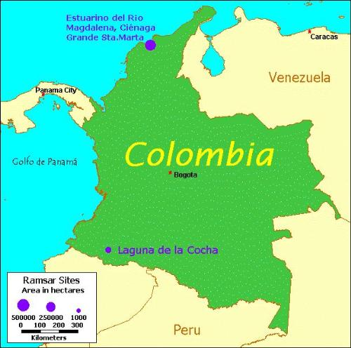 maps of colombia. Map of Colombia