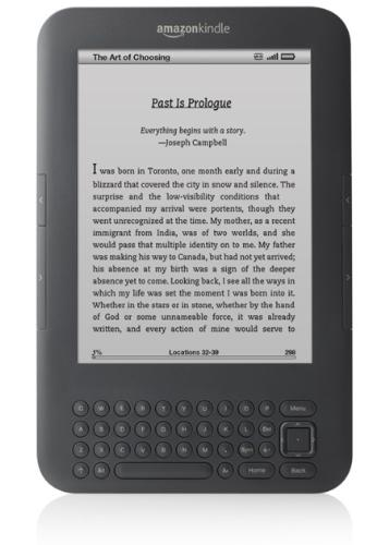 Amazon Kindle 3 - Amazon Kindle 3, e-reader device which change our experiences of reading book