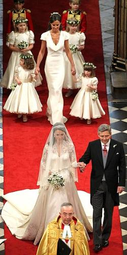 Wedding Day - This is a photo of Kate Middleton wither father and her attendents on her wedding day on 4/29/2011.