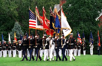 Joint Colors - The Military joint color guard.
